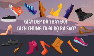 Giày dép đã thay đổi cách bạn đi bộ ra sao?
