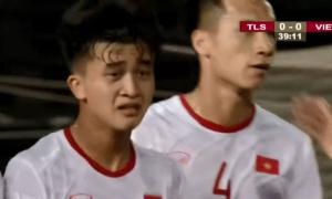 Báo nước ngoài ấn tượng với cầu thủ Việt bật khóc trong trận gặp Timor Leste