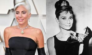Lady Gaga nổi nhất Oscar 2019 với vòng 700 tỷ đồng của 'huyền thoại' Audrey Hepburn