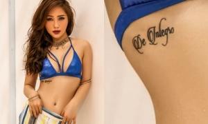 Diện bikini bốc lửa, Hương Tràm để lộ hình xăm lạ