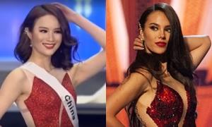 Sau Ngân Anh, Hoa hậu Trung Quốc bị nghi 'nhái' váy của Miss Universe 2018
