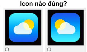 Icon nào mới đúng chuẩn, bạn có nhớ?