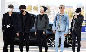 BTS chất lừ ở sân bay sang Mỹ