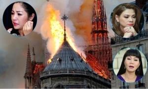Nhiều sao Việt đau xót, cầu nguyện cho Nhà thờ Đức Bà Paris