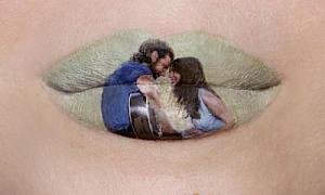 Nghệ sĩ tái hiện các phim kinh điển lên... môi