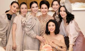 Hội chị em mặc sành điệu dự sinh nhật Hoa hậu Hà Kiều Anh