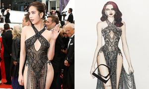 NTK Đỗ Long: 'Ngọc Trinh yêu cầu tôi may váy sexy nhất có thể'