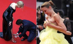 4 sự cố trang phục của các mỹ nhân ở Cannes 2019