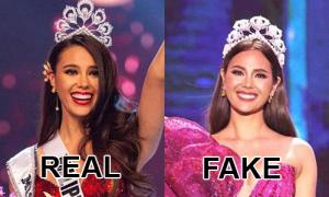 Đội vương miện 'fake' - chuyện thường với các Hoa hậu Hoàn vũ