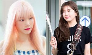Suzy tăng cân đáng kể, Tae Yeon nhuộm tóc hồng như búp bê