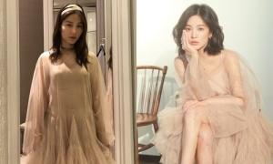 Diễm My 9x mặc đụng váy với Song Hye Kyo