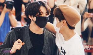 BTS gây chú ý tại sân bay, bộ đôi HopeKook khiến fan 'hú hét'