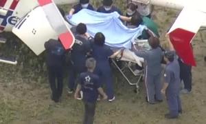 Nghi phạm phóng hỏa xưởng phim Nhật chuyển viện bằng trực thăng