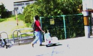 Xuất hiện video nghi phạm đẩy xe chở xăng gần xưởng phim Nhật