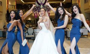 H'Hen Niê nhí nhố làm phù dâu cho Hoa hậu Hoàn vũ Thái Lan