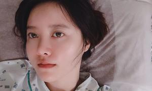 Goo Hye Sun nhập viện gấp