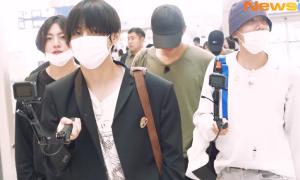 BTS xuất hiện ở sân bay sau kỳ nghỉ 35 ngày