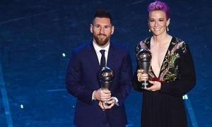 Vượt Ronaldo, Messi giành giải The Best