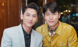 Isaac gặp 'mỹ nam được khao khát nhất Hàn Quốc' Jung Woo Sung