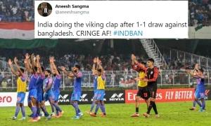 CĐV Ấn Độ bức xúc vì đội nhà 'chơi tệ vẫn ăn mừng'