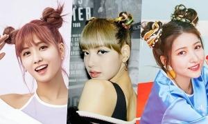 Idol Hàn đáng yêu với tóc búi hai bên