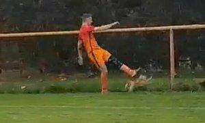 Cầu thủ bị đuổi khỏi sân vì đá chết một con gà
