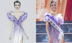 Váy của Thúy Vân ở chung kết HH Hoàn vũ mất 500 giờ để hoàn thành