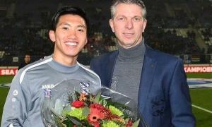 Heerenveen vinh danh, phát lại bàn thắng của Văn Hậu trước hàng nghìn CĐV