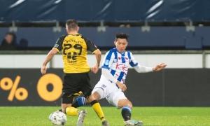 Văn Hậu lần đầu đá cho đội một Heerenveen