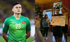 Văn Lâm đưa bạn gái về 'ra mắt' gia đình dịp Giáng sinh