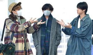 BTS khoe phong cách thời trang ở sân bay