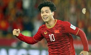 Công Phượng vào top 10 cầu thủ tiến bộ nhất châu Á