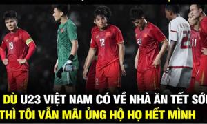 CĐV chế ảnh động viên U23 Việt Nam