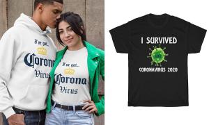 Thời trang ăn theo virus corona bị chỉ trích 'thiếu đạo đức'