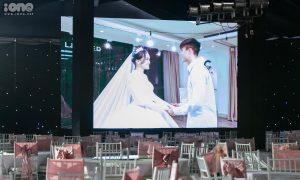 Rạp cưới trên sân bóng làng của Duy Mạnh - Quỳnh Anh