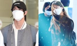 BTS, Twice bịt khẩu trang kín mít khi ra sân bay