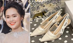 Giày cưới như Lọ Lem của Quỳnh Anh và dàn mỹ nhân Việt