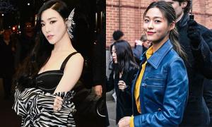 Tiffany hở bạo, Seol Hyun kín đáo dự New York Fashion Week