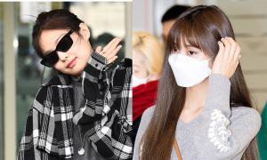Jennie lộ cằm nọng, Tzuyu lạ lẫm ở sân bay