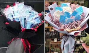 Sao Trung Quốc nhận 'hoa khẩu trang' ngày Valentine