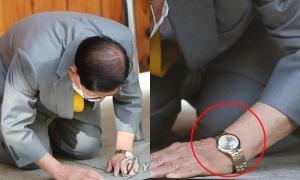 Giáo chủ Tân Thiên Địa đeo đồng hồ khắc tên cựu Tổng thống Hàn