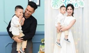 Việt Anh không chụp ảnh chung với vợ cũ trong sinh nhật con