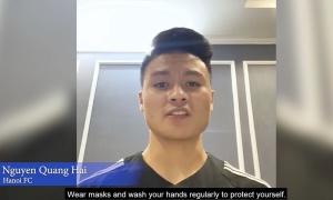 Quang Hải được AFC lựa chọn tham gia tuyên truyền chống Covid-19