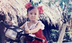 Ảnh thơ ấu của Angela Phương Trinh