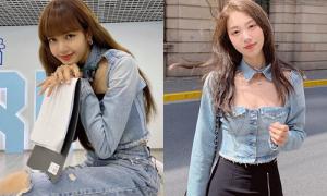 Con gái Trung Quốc đua nhau bắt chước mặc giống hệt Lisa