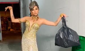 Mỹ nhân Việt đua nhau chưng diện đồ dạ hội đi... đổ rác