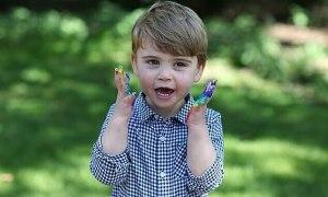 Kate chụp ảnh mừng Hoàng tử Louis 2 tuổi