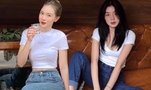 Dàn hot girl chứng minh áo thun trắng - quần jeans luôn 'đỉnh'
