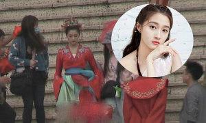 Tạo hình cô dâu của Quan Hiểu Đồng trong phim mới
