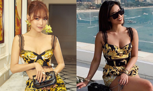 Sao Việt đọ dáng với áo 'một gang tay' giá gần 20 triệu đồng